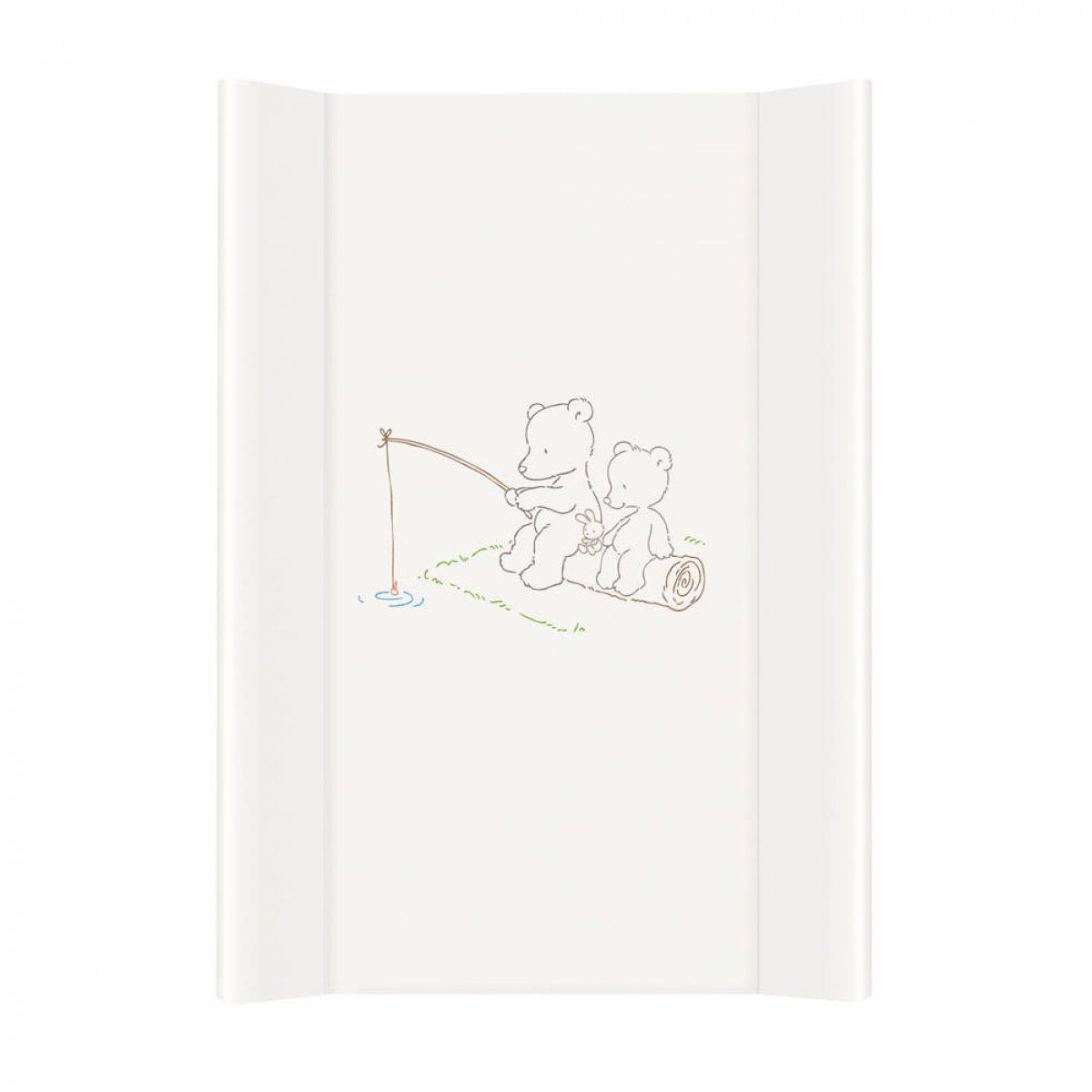 Přebalovací podložka tvrdá medvídci bílá