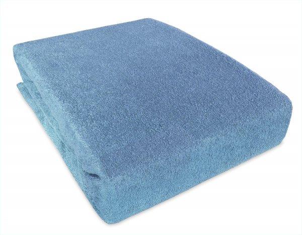 Prostěradlo froté nepropustné PVC 120/60 modré