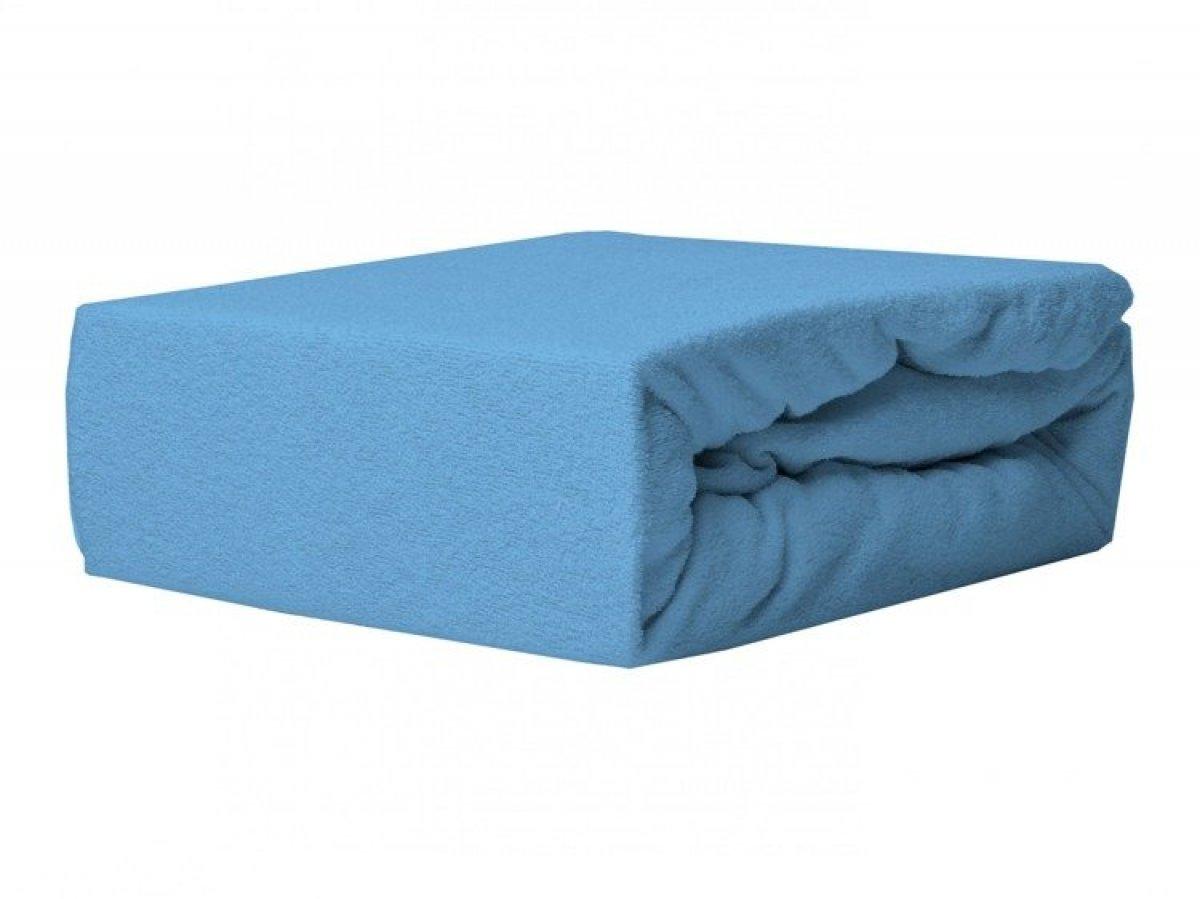 Prostěradlo froté s gumkou 120/60 cm modrá