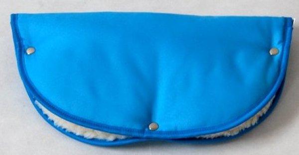 Rukávník na madla kočárků modrá