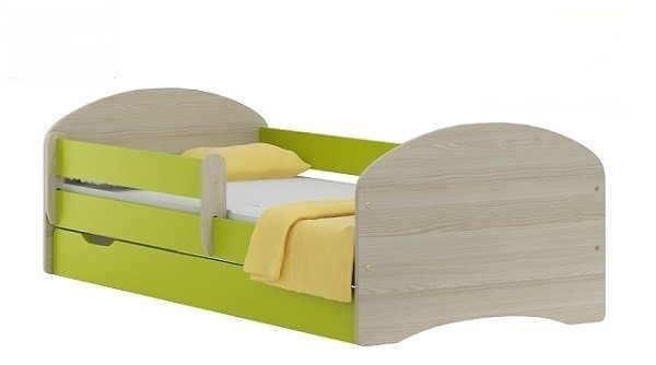 Postel Nela N20S 180/90 cm + matrace + šuplík zelená