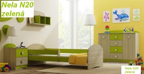 Postel Nela N20 160/80 cm + matrace zelená