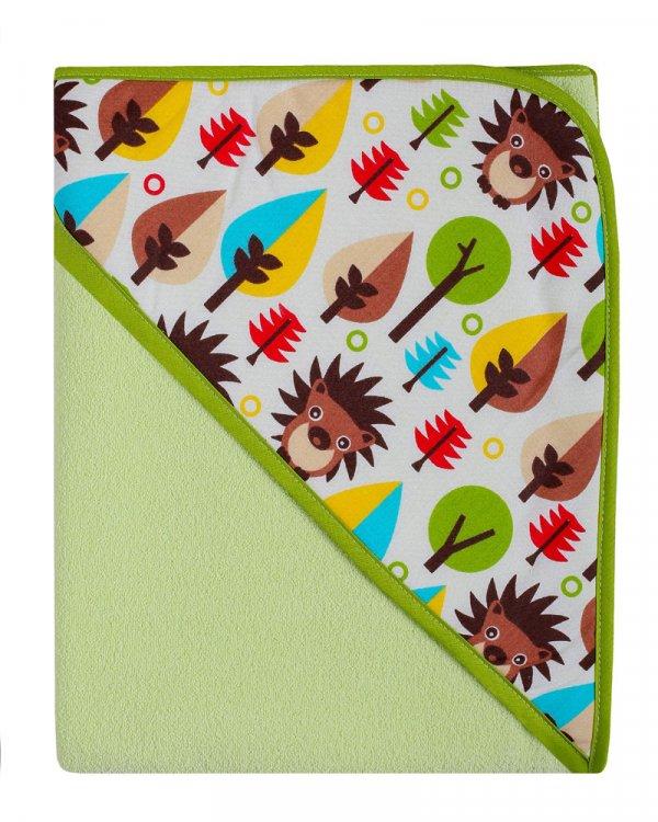 Dětská osuška s kapucí termofrote - zelená 80x80 cm