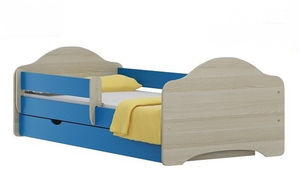 Postel Ondřej N22 180/90 cm + matrace + šuplík modrý