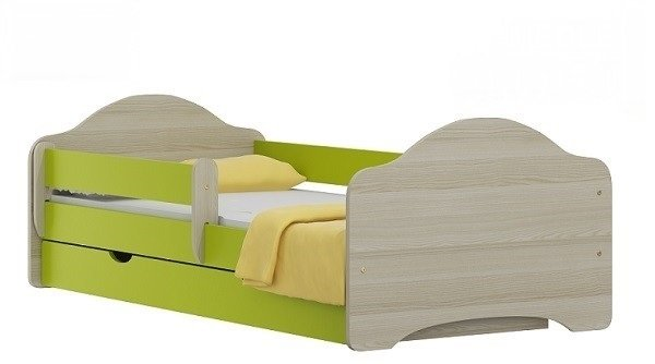 Postel Ondřej N22 160/80 cm + matrace + šuplík zelený