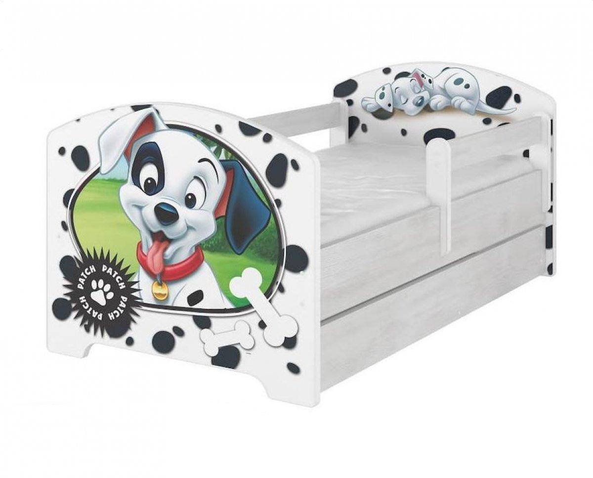Postel 160/80 cm 101 dalmatinů + šuplík