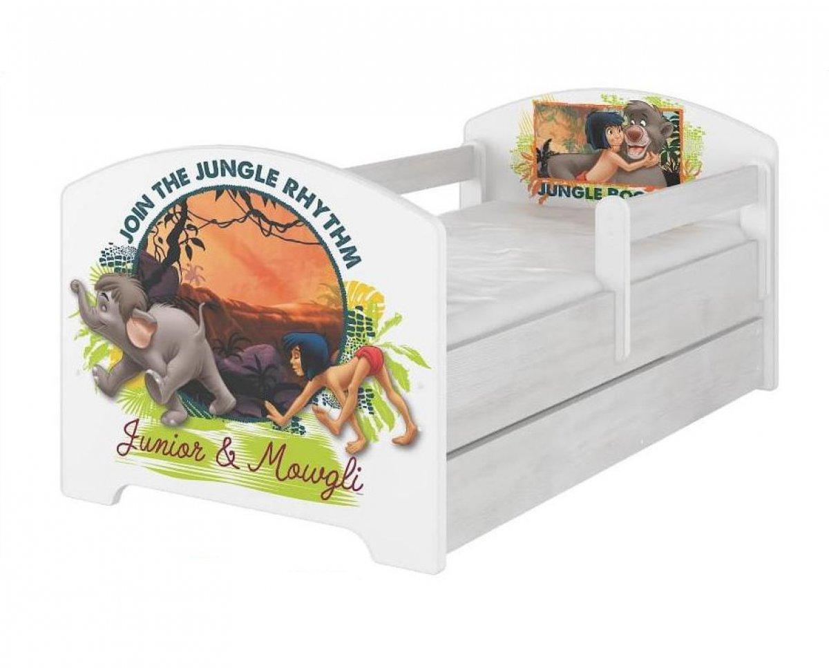 Postel 160/80 cm Kniha džunglí + šuplík