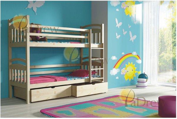 Patrová postel Milan 200x90 cm + rošty zdarma