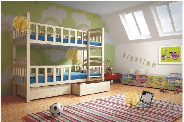Patrová postel Kristík 200x90 cm + rošty zdarma