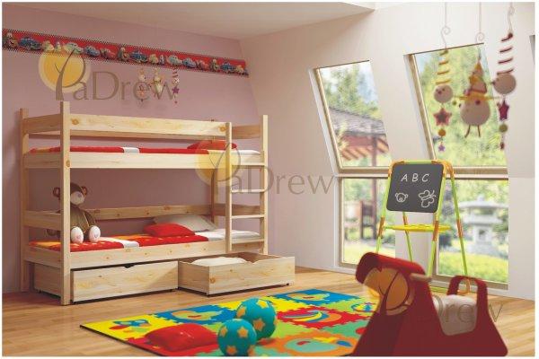 Patrová postel Elegant 200x90 cm + šuplíky + rošty