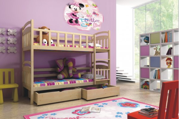 Patrová postel Ferda 200x90 cm + rošty zdarma