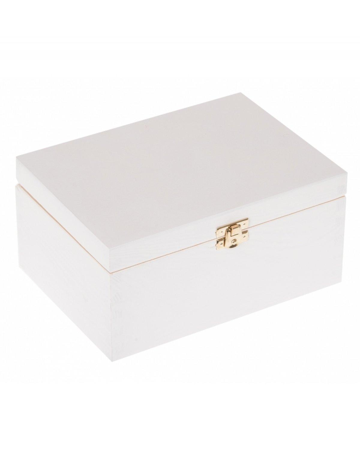 Krabička dřevěná 22x16x10,5 cm - bílá
