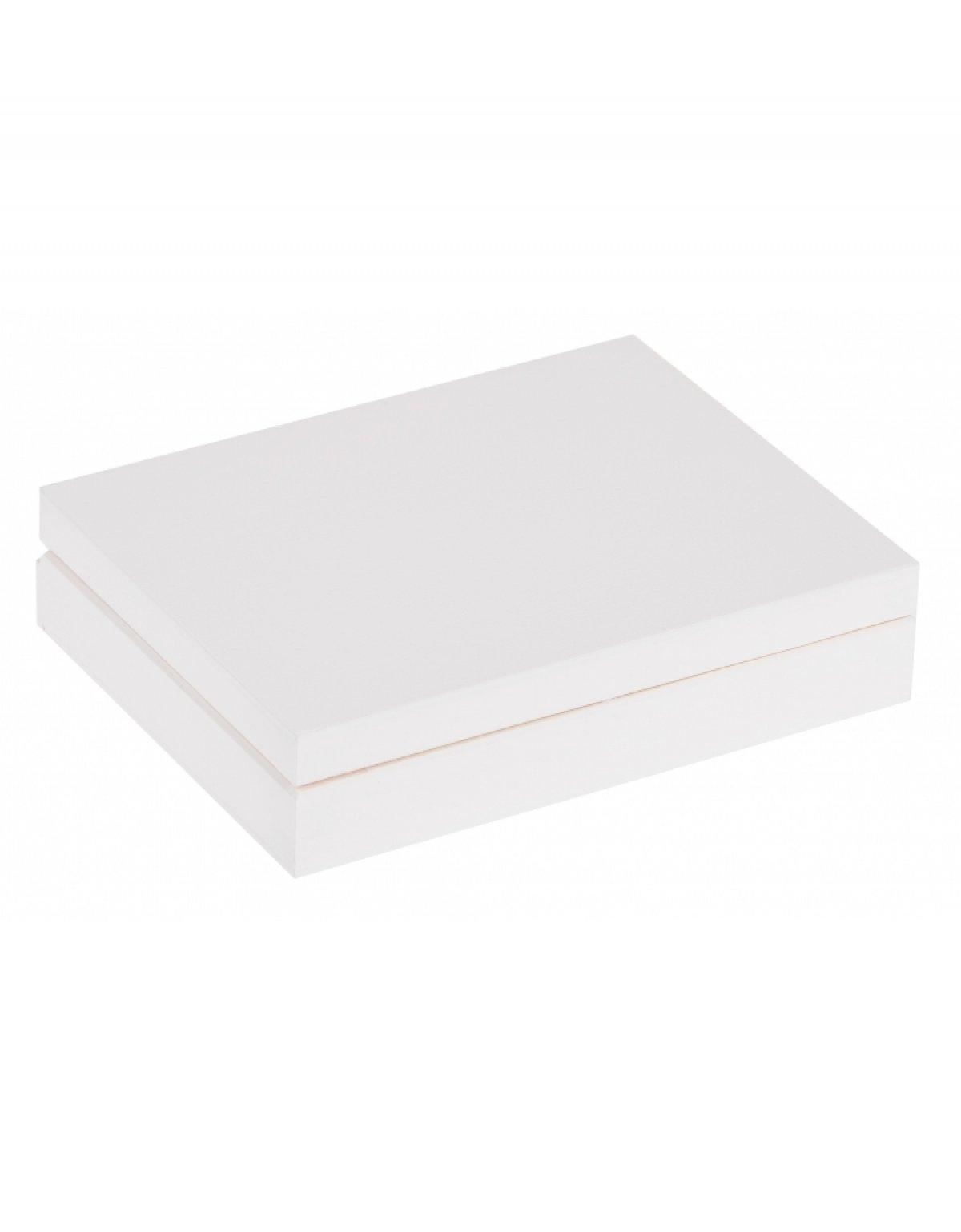 Krabička dřevěná 16x12x3 cm - bílá