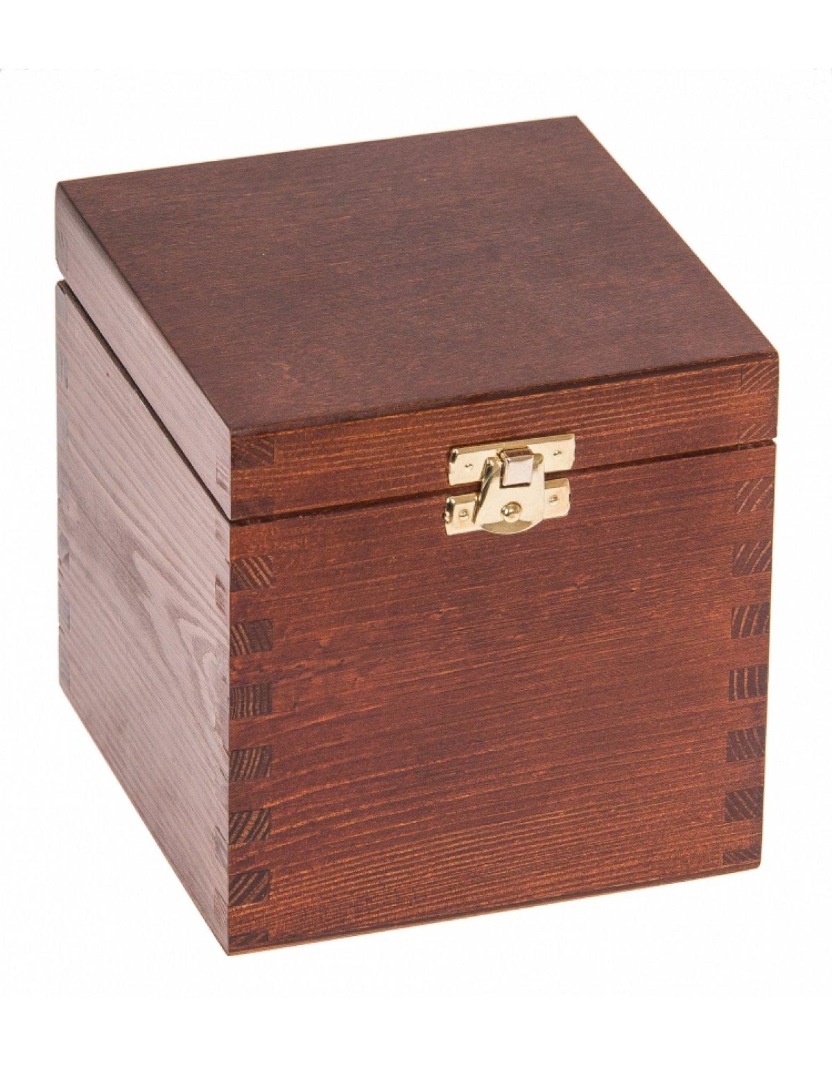 Krabička dřevěná 13x13x13,5 cm - ořech