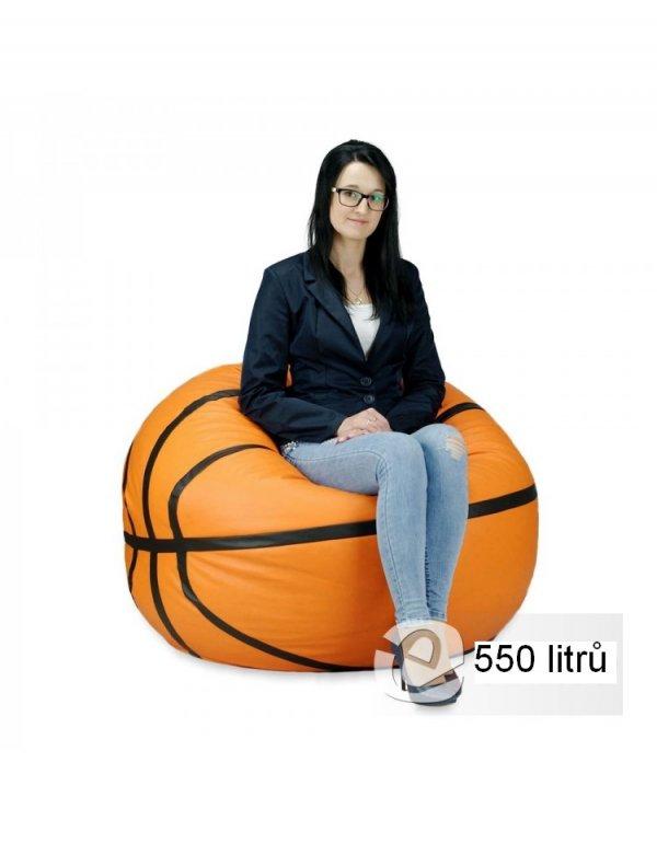 Sedací míč basketbal - 550L - XXXL