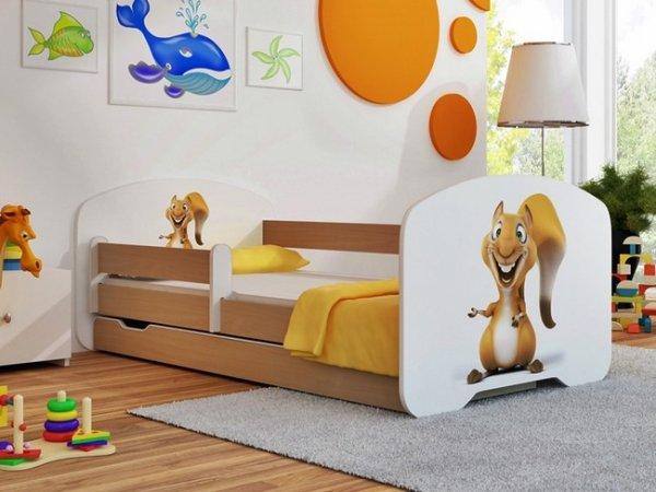 Miloušek Veverka 140x70 cm se šuplíkem, roštem a matrací