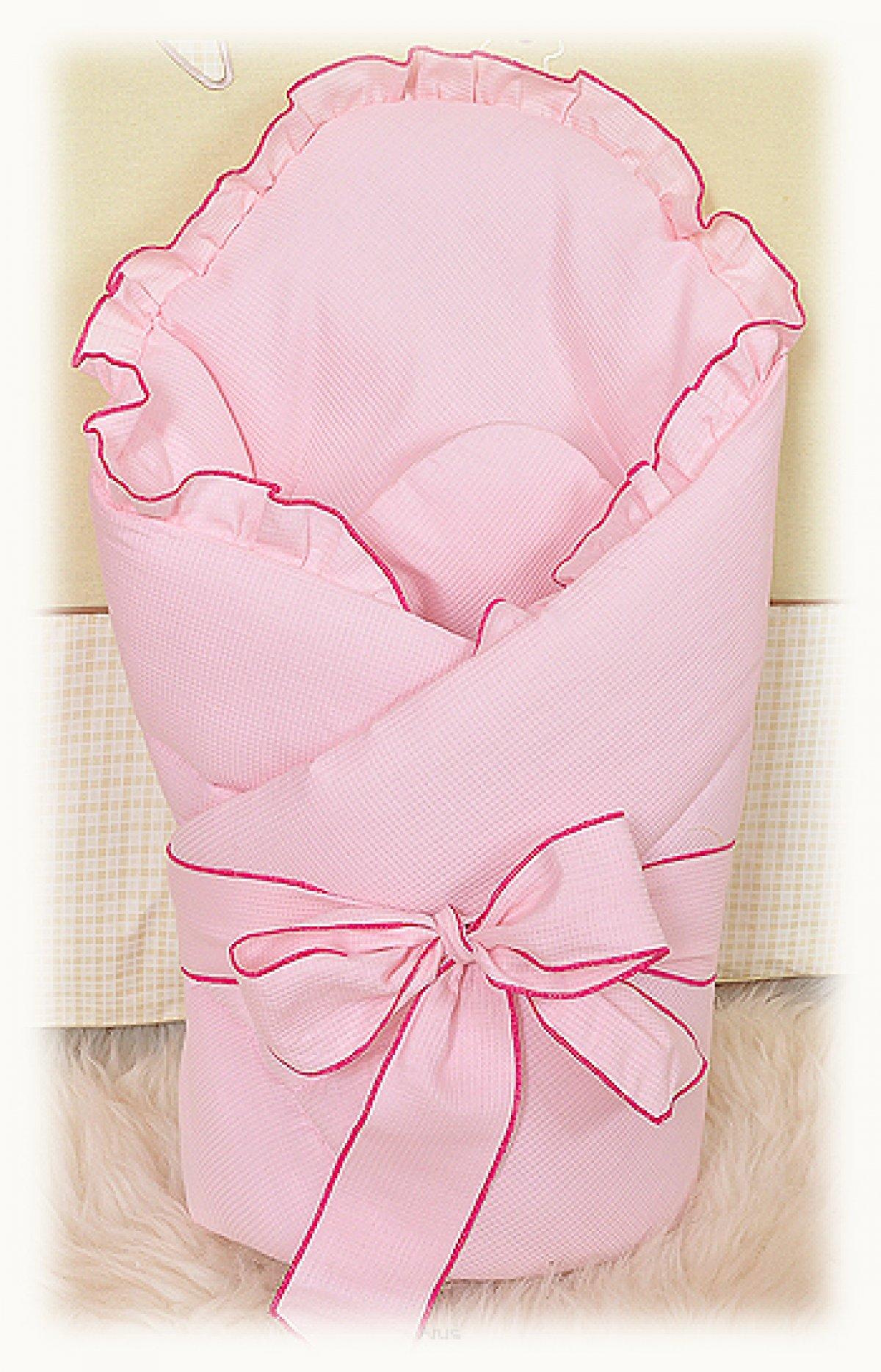Zavinovačka vázaná s mašlí - růžová