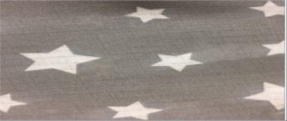 Plena bavlna potisk - šedá hvězda