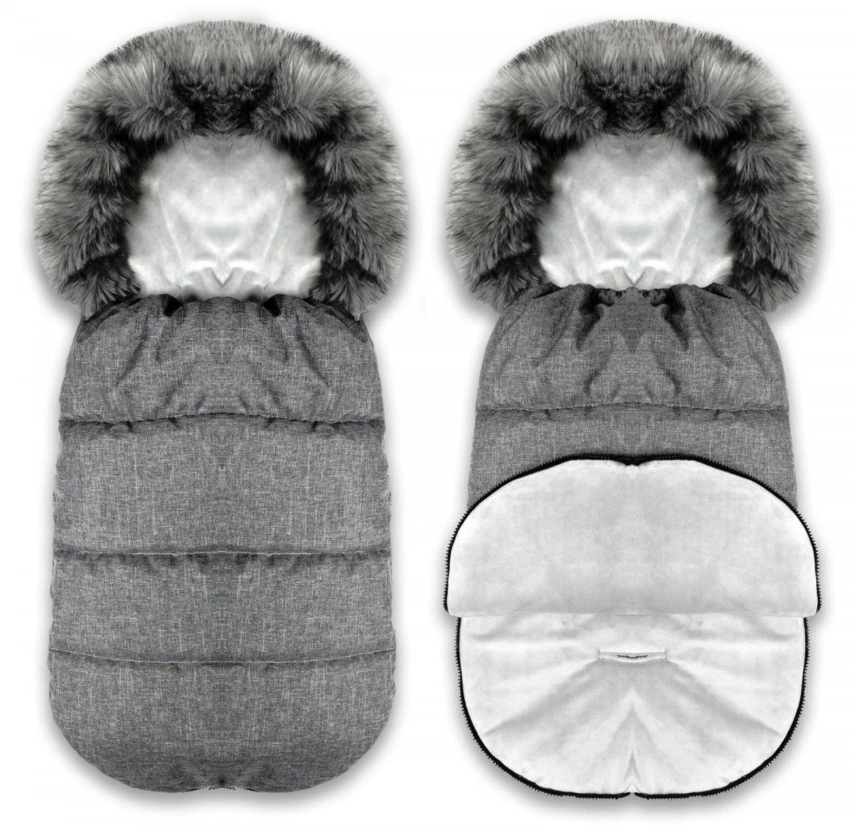 Fusak Zizi liška - šedý/šedý