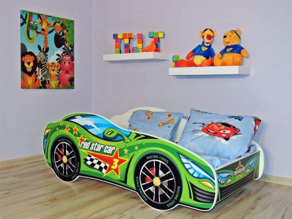 Dětská postel 160/80 cm racing zelený+matrace+dárek