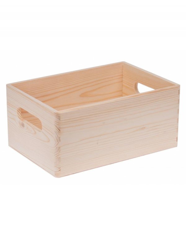 Krabička dřevěná 30x20x14 cm bez víka