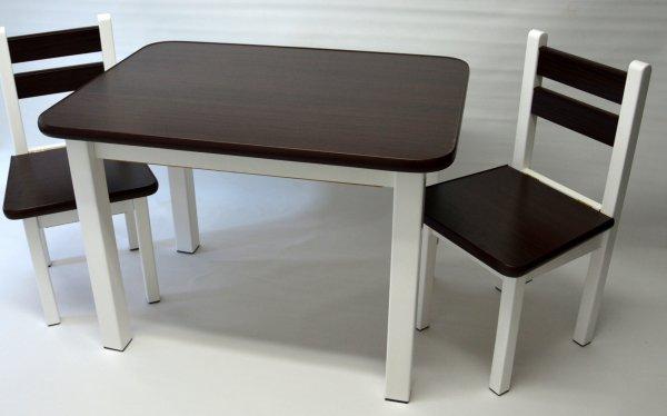 Stůl a dvě židličky ST1 wenge