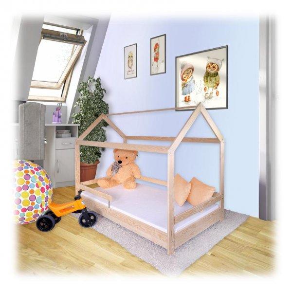 Postel domeček 160/80 cm + matrace i rošt