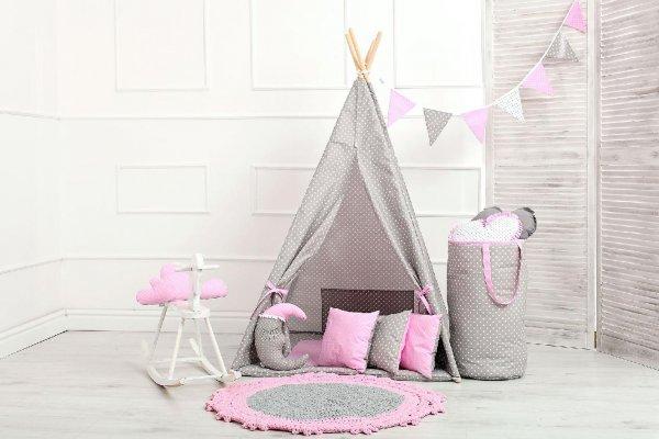 Stan teepee - růžový puntíček