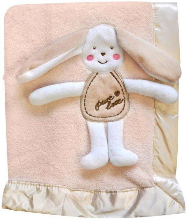 Dětská deka - 3D růžová - dárkové balení