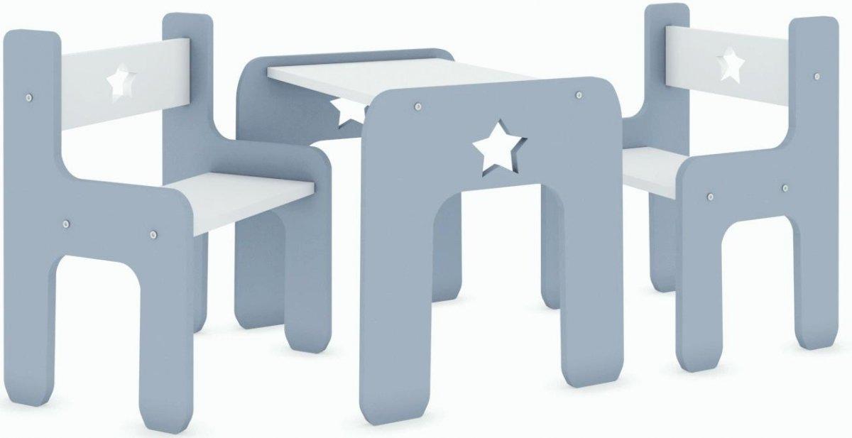 Stůl a dvě židle - hvězda šedá