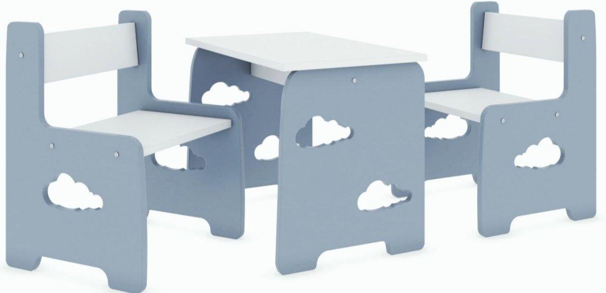 Stůl a dvě židle - mráček šedý