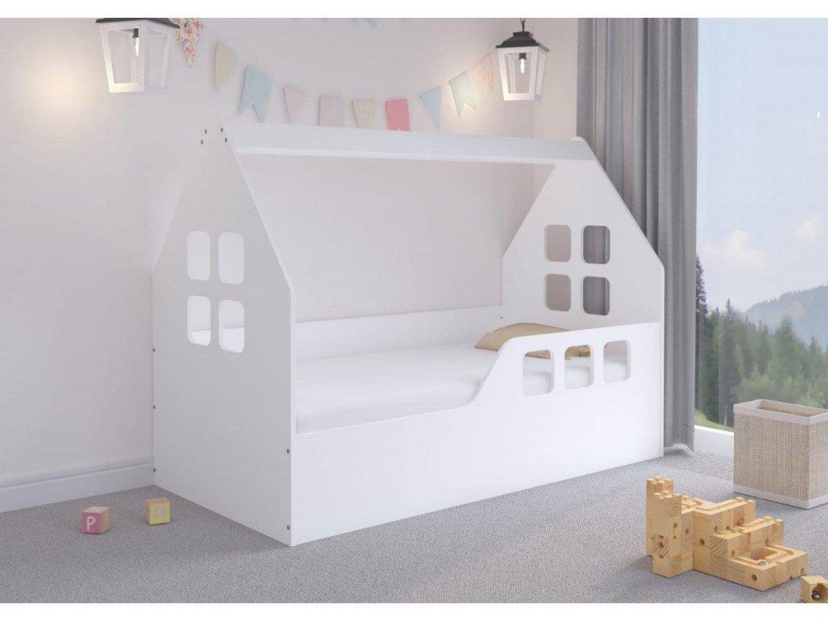 Dětská postel ve tvaru domečku - 160 x 80 cm Bílá