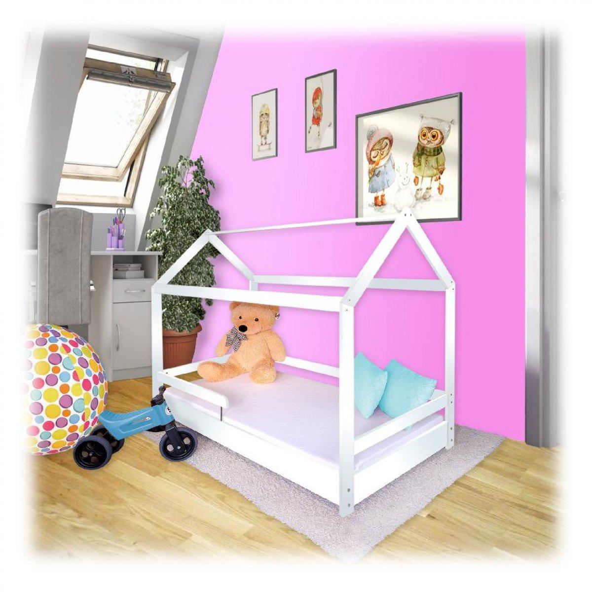 Dětská postel domeček 160/80 cm + rošt