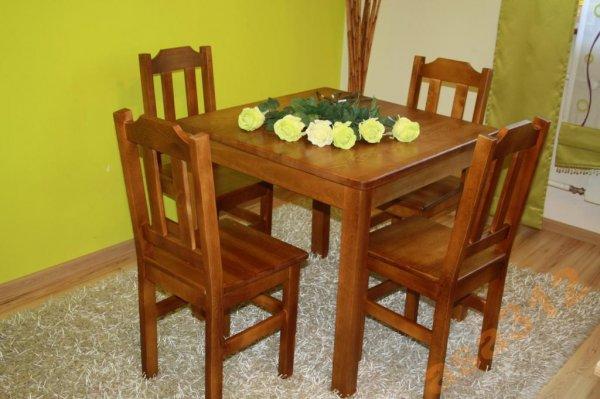 Stůl z masivu borovice 80x80 cm dub