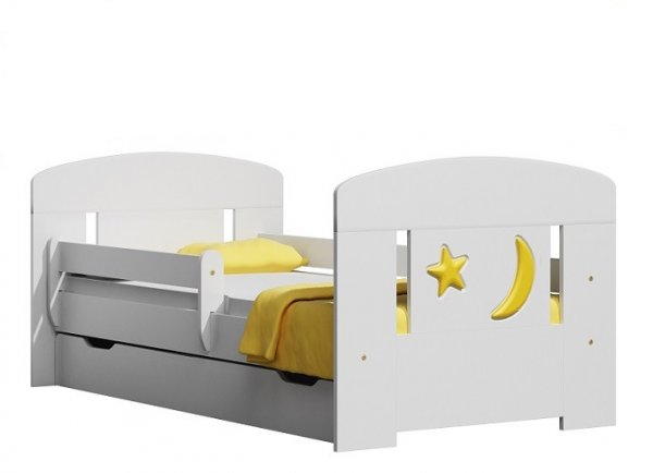 Postel 20S 160/80 cm + matrace + šuplík bílá