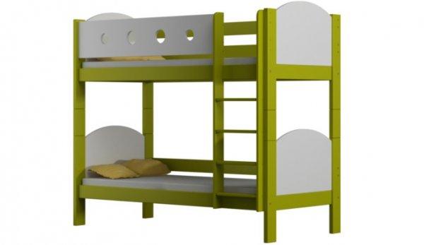 Patrová postel Vašek luk 180/80 cm zelená