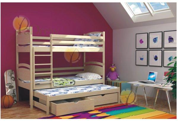 Patrová postel Pepík 200x90 cm + rošty zdarma