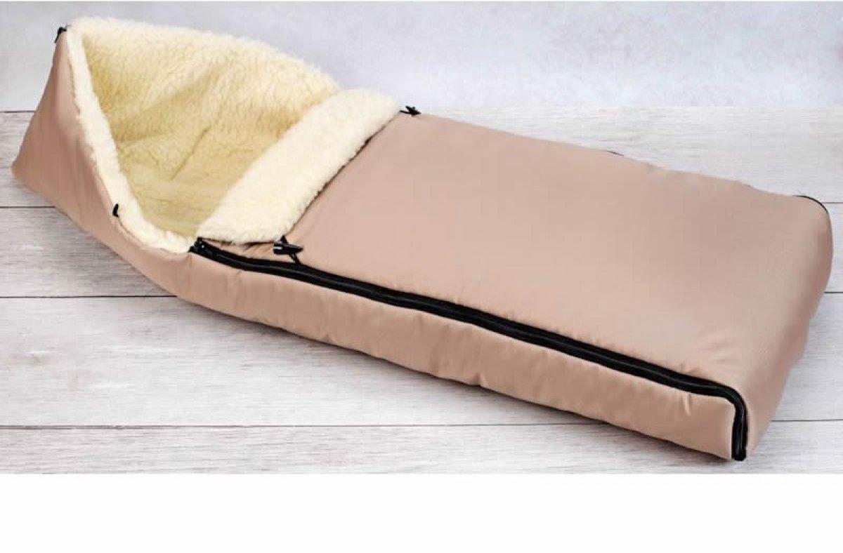 Dětský fusak zimní - 90 cm - béžový