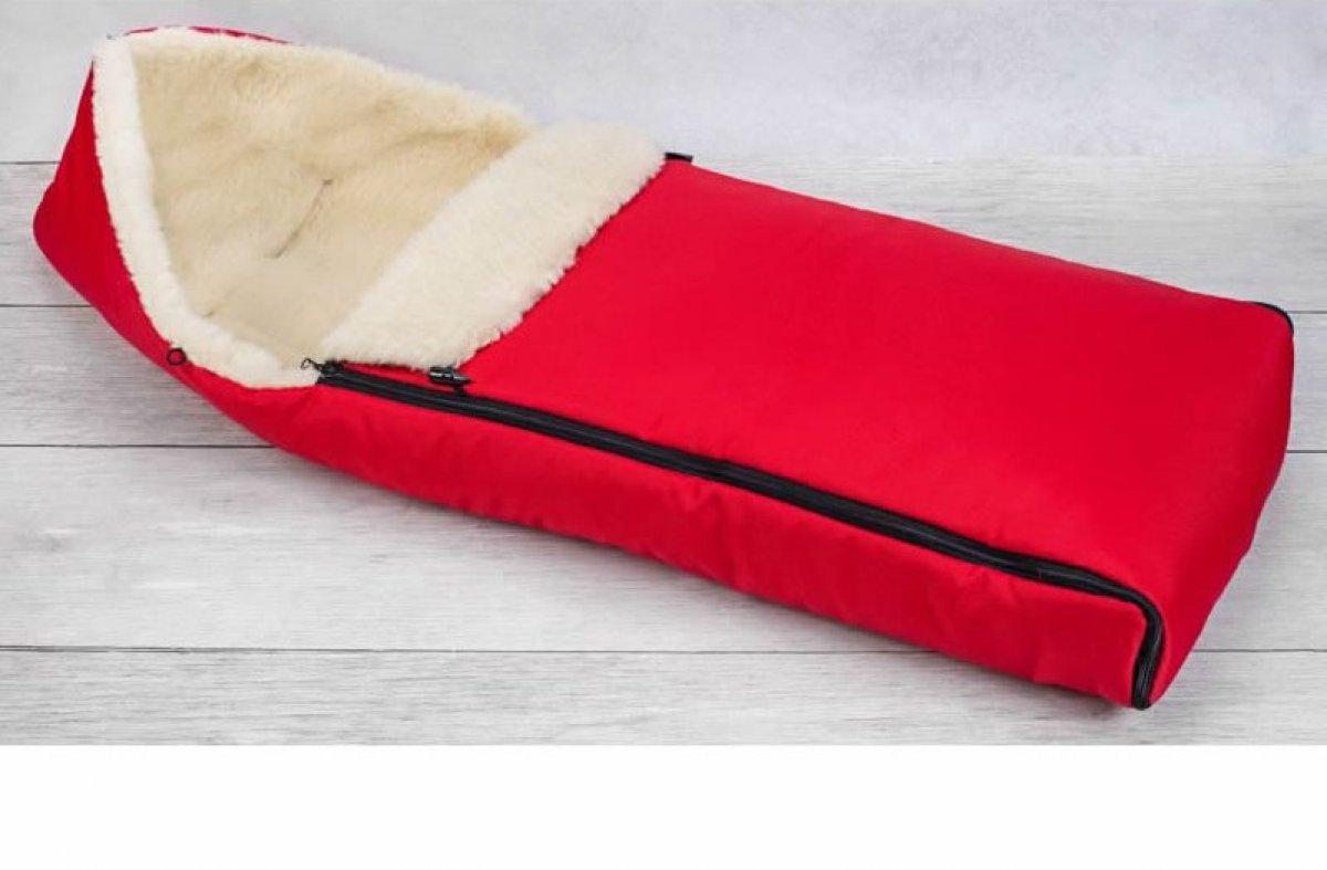 Dětský fusak zimní 90 cm červený