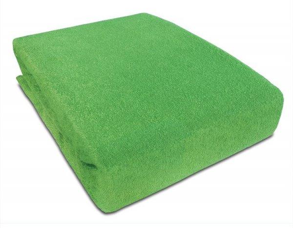 Frote prostěradlo s gumkou 160/200 cm - zelená