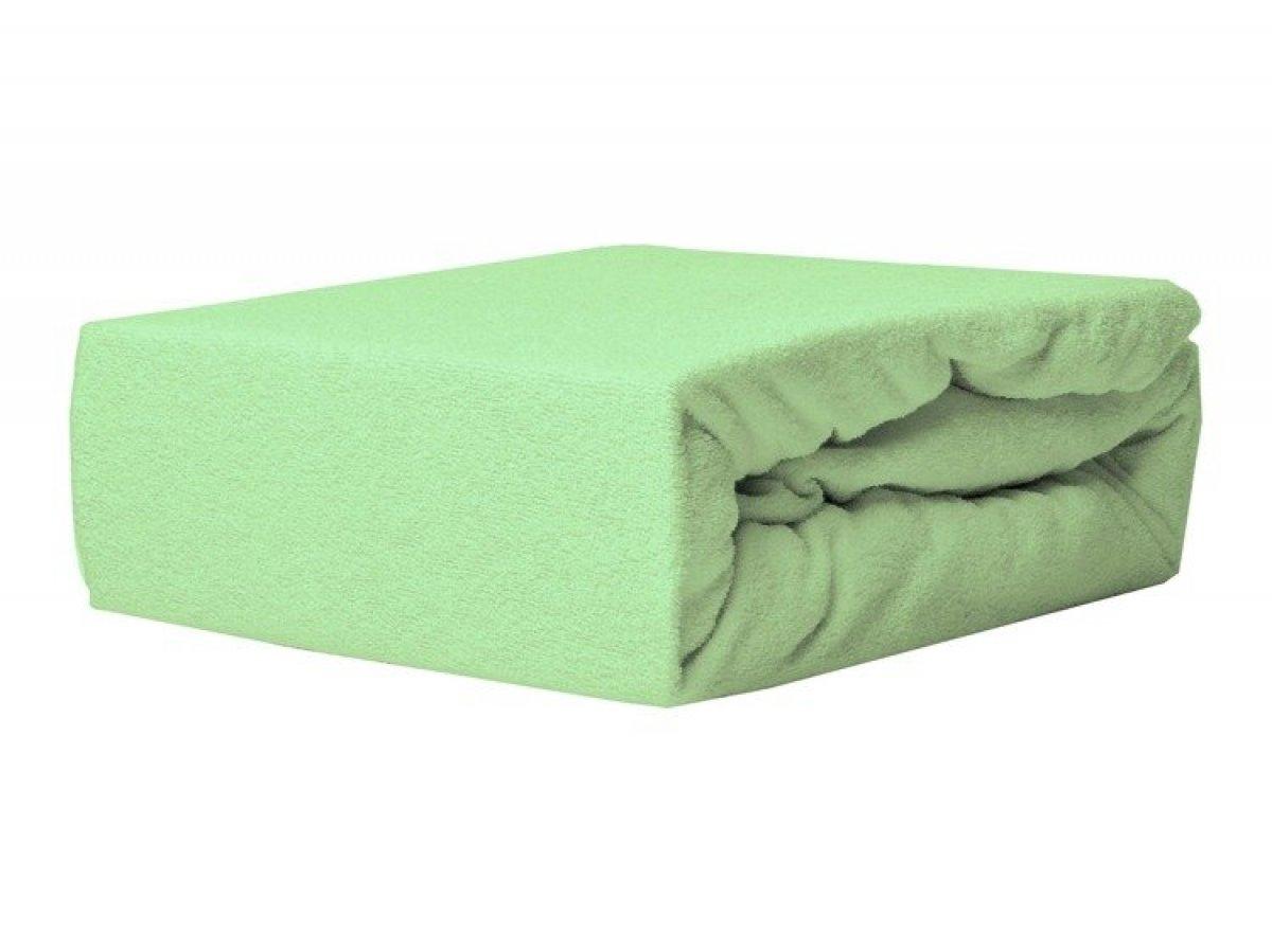 Prostěradlo froté s gumkou 120/60 cm zelená