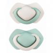 A - Canpol babies set symetrických silikonových dudlíků 0-6m PURE COLOR zelený