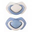 C - Canpol babies set symetrických silikonových dudlíků 18m+ PURE COLOR modrý