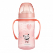 Canpol babies Tréninkový hrníček EXOTIC ANIMALS 240ml růžový