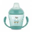 Canpol babies Nevylévací hrníček se silikonovým pítkem 230ml TOYS tyrkysový