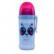 Canpol babies Láhev sportovní s nevylévací slámkou HELLO LITTLE 350 ml béžová
