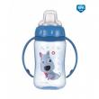 Canpol babies Tréninkový hrníček CUTE ANIMALS se silikonovým pítkem a úchyty 320ml