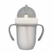 Canpol babies hrníček se silikonovou slámkou 210ml MATT šedý