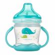 Canpol babies Nevylévací hrníček se silikonovým pítkem LOVE SEA 180ml modrý