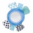 Canpol babies Šustící plyšová hračka na ruku se zrcátkem ZIG ZAG modrá